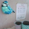 veilleuse oiseau mésange bleue