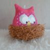 hibou musical doudou rose