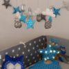 tour de lit hibou bleu