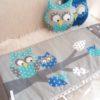 tour de lit et gigoteuse hiboux gris/bleu