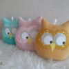 coussin hibou musical moutarde