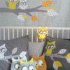 sticker mural branche et ses hiboux jaune