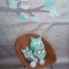 sticker mural branche et ses hiboux menthe à l'eau
