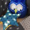 tour de lit et gigoteuse étoile gris bleu