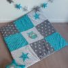 couverture hibou bébé bleu