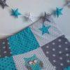 tapis de jeu hibou bleu