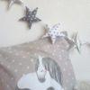 coussin carré licorne