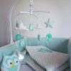 mobile bébé hibou mint