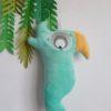 coussin perroquet mint
