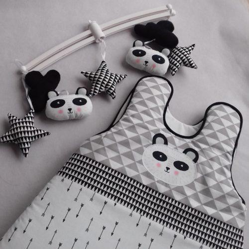 tour de lit et gigoteuse panda