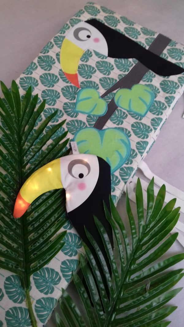 tour de lit jungle toucan