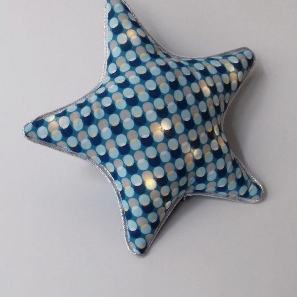 veilleuse étoile bleu paon