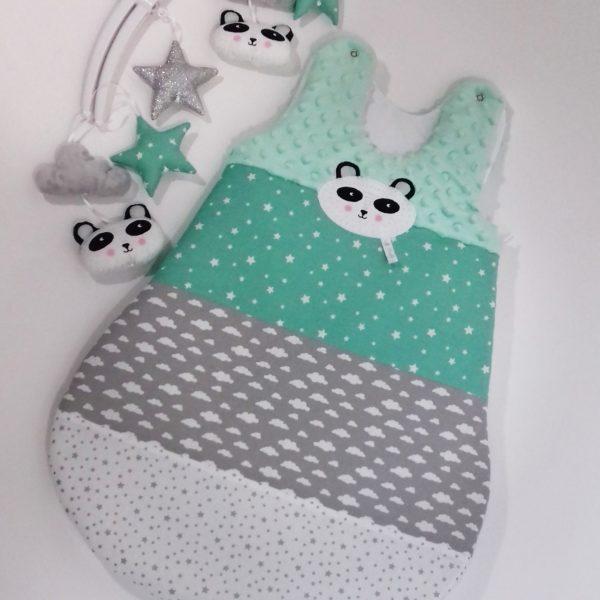 gigoteuse panda menthe