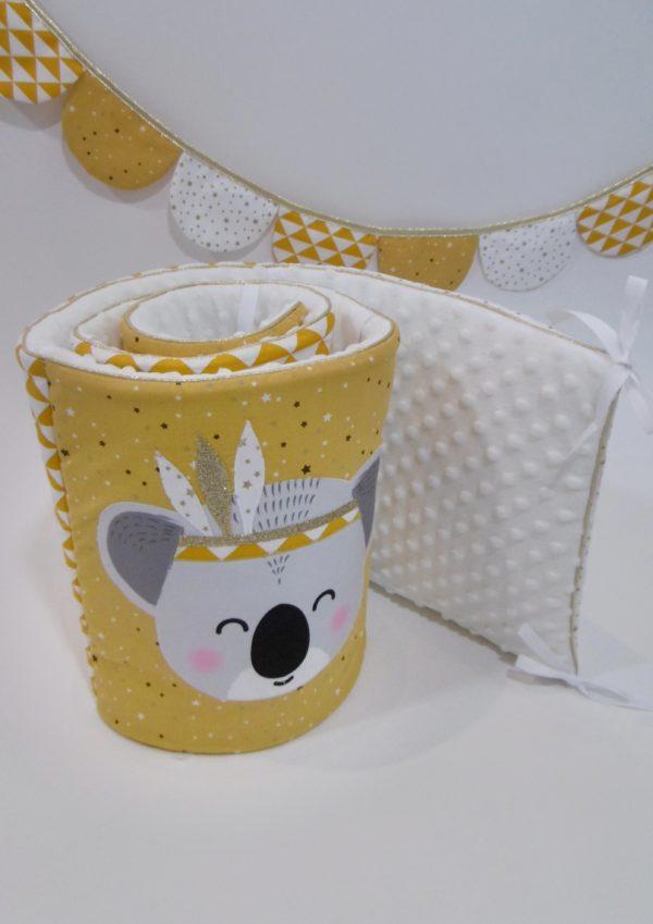 tour de lit koala indien moutarde