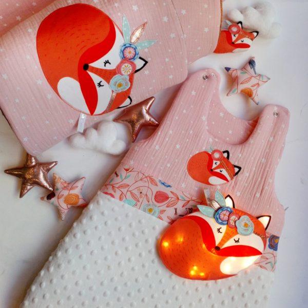 tour de lit et gigoteuse renard foxy gatsby