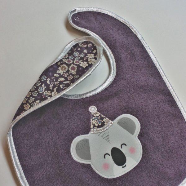 Bavoir koala violine bis