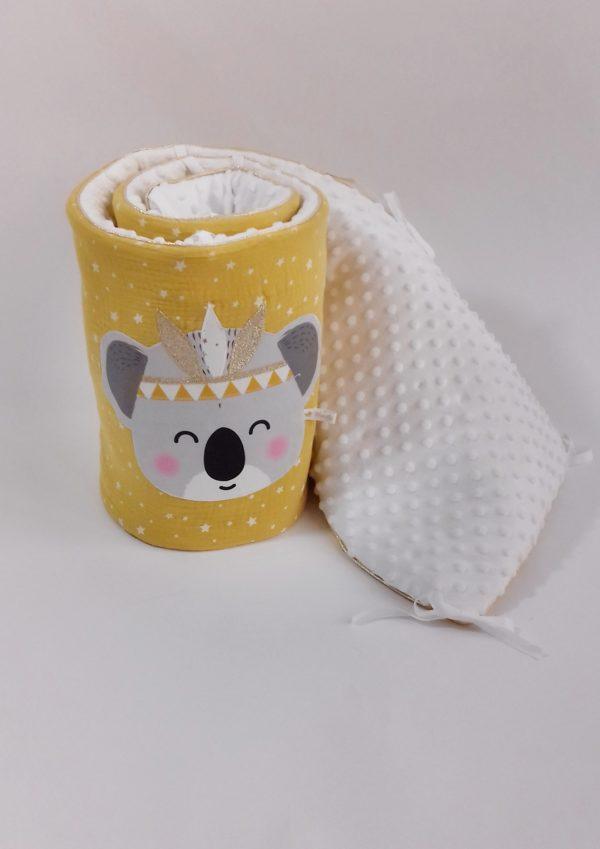tour de lit koala moutarde