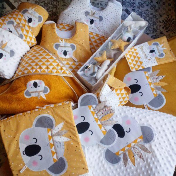 couverture koala indien moutarde