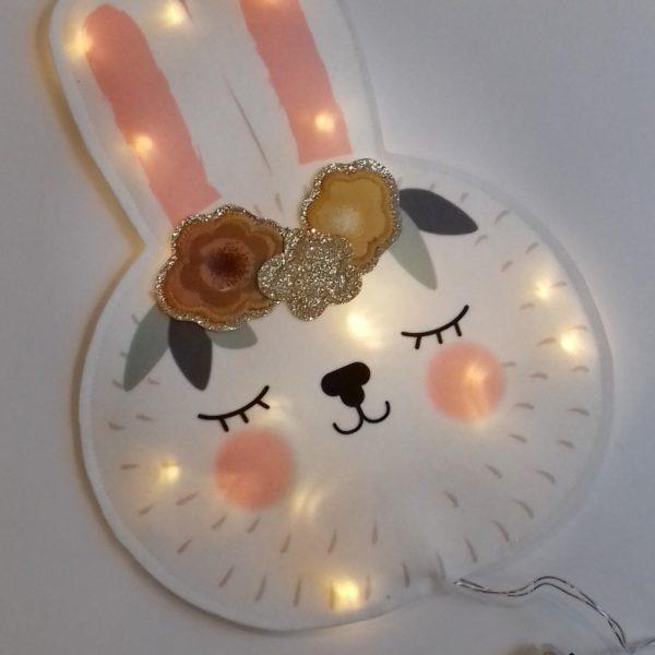 veilleuse lapin fleur moutarde