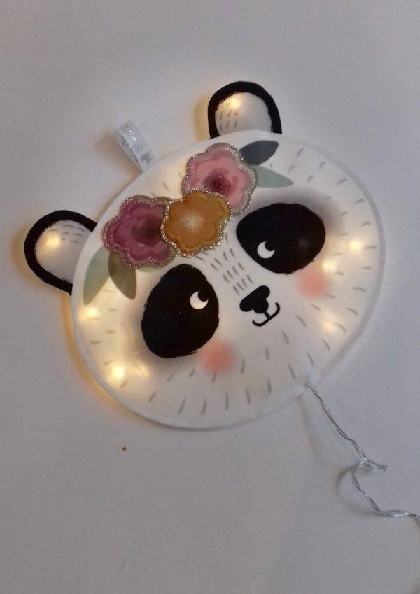 veilleuse panda fleur