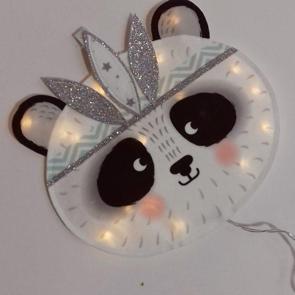 veilleuse panda indien menthe