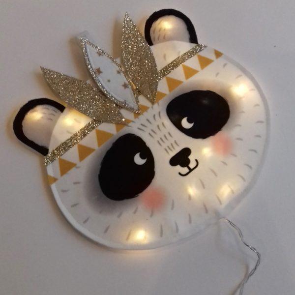 veilleuse panda indien moutarde